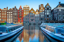 Amsterdam Canal Houses With Ca...
