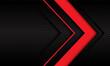 Abstract red arrow direction on dark metallic circle mesh pattern design modern futuristic background vector illustration.