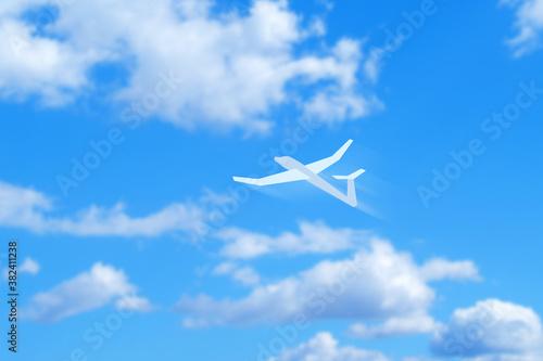 青空に紙飛行機 Canvas Print