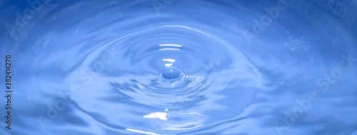 Abstract background image water drop splash blue background Fotobehang