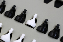 Game Of Chess. Black And White...
