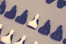 Game Of Chess. Black And White Party. Your Turn. Mini Chess.