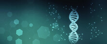 2d Render Of Dna Structure, Ab...