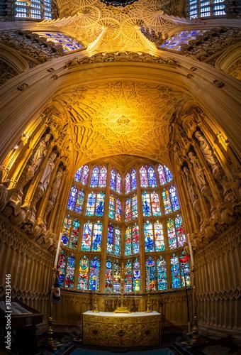 Fototapeta View of Westminster Abbey in London