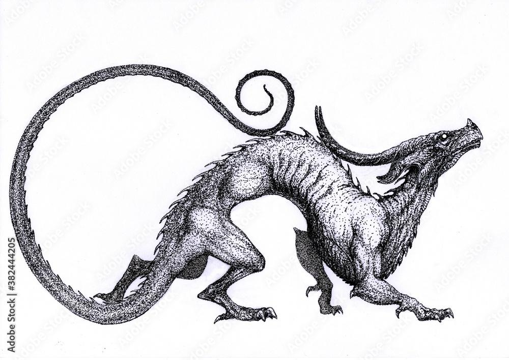 Fototapeta dragon monster beas