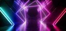 Neon Sci Fi Retro Modern Glowi...