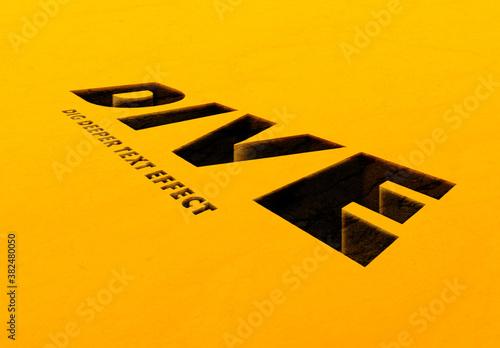 Obraz Hole Text Effect - fototapety do salonu
