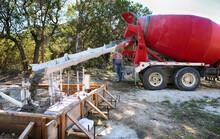 Large Concrete Mixing Truck Po...