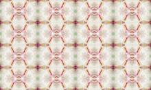 Pink And Gray Pattern Created By Stones Inside Ancient Kaleidoscope