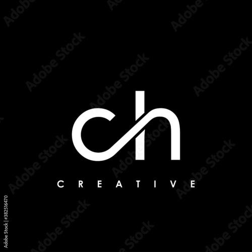 Foto CH Letter Initial Logo Design Template Vector Illustration