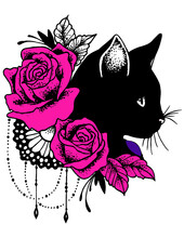 Gatos Flores Atrapasueño