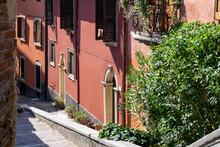 Romeo, Juliet Italian City Panoramic View. Beautiful Architecture, Adige River And Bridges In Verona, Italy. Romantic Travel Concept.