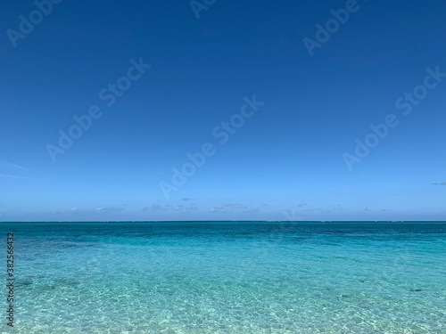 Valokuva きれいなカリブの空と海