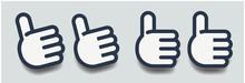 ナイス,グッド,アイコン,ピクトグラム,ロゴ,ベクター,イラスト,シンボル,サイン手,OK