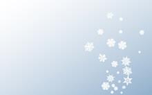 White Snowfall Panoramic Vector Gray Background.