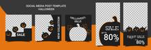 Set Of Editable Square Hallowe...