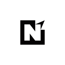 N Initial Arrow Logo Design Ve...