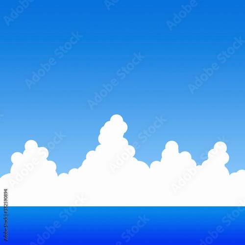 Valokuva 青空と雲と海