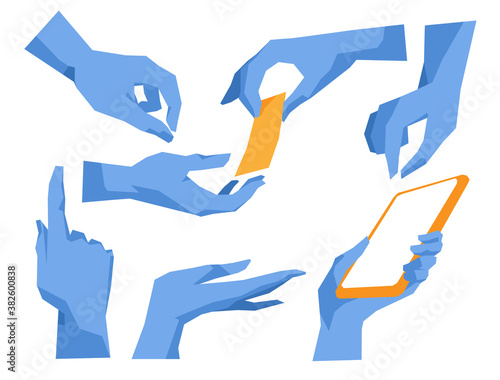 Fotomural Gesti e posizioni delle mani
