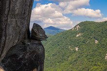 Geological Formation Known As The Devils Head In Chimney Rock State Park In North Carolina.
