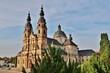 canvas print picture - Fulda, Dom St. Salvator, Nordostansicht