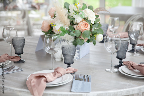 Fotografie, Obraz Served table. hall for banquets and weddings