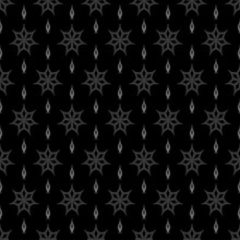 Dark Background, Gray Pattern On Black Background, Geometric Wallpaper Seamless - Vector Illustration