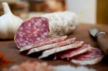 Italian Salame Cured Sausage