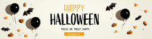 Halloween Party Banner With Bl...