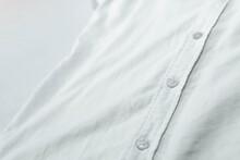 Camisa Blanca, Vista De Cerca, Aislada. Moda, Elegante