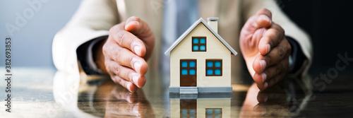 Fototapeta African American House Mortgage Insurance