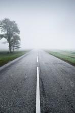 An Empty Highway (asphalt Road...