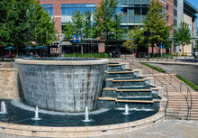 A Water Fountain Of Steps Crea...