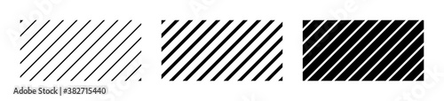 Fotografía Set of diagonal thin and thick line in abstract style, stripes pattern backgroun