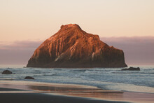 Sunrise At Bandon Beach Along The Oregon Coast
