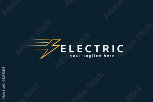 Leinwand Poster Electric Logo,  tunder bolt design logo template, vector illustration