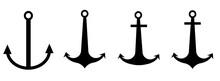Anchor Icon Logo Nautical Mari...
