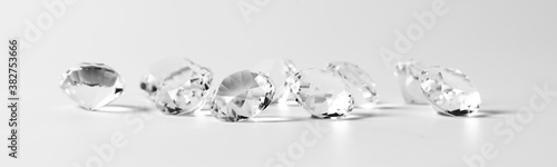 Fotografie, Obraz diamonds isolated on white