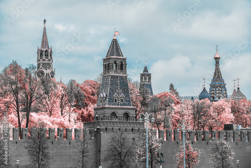 Fotografia Infrared photo. Kremlin