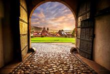 Blick Auf Schmalkalden Vom Innenhof Des Schlosses Wilhelmsburg Aus