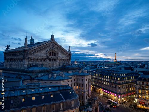 Fényképezés Aerial shot of Palais Garnier opera house in Paris, France