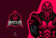 Red Guard Fighter Mascot Logo ...