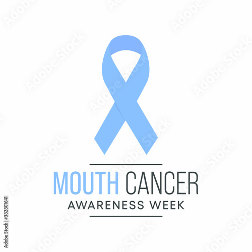 Vector illustration on the theme of Mouth Cancer awareness week observed each year during November Wallpaper Mural