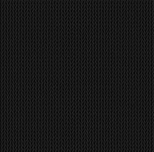 Knit Texture Black Color. Vect...