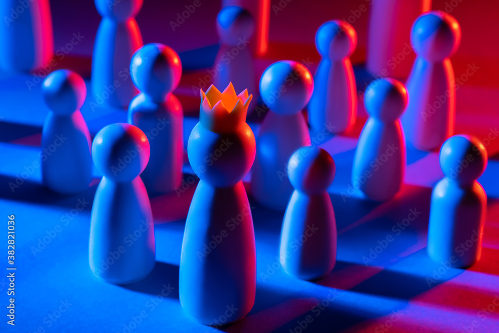 Fototapeta Boss and subordinates of different levels. The official hierarchy. Promotion through the ranks. Building a career.