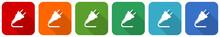 Plug Icon Set, Flat Design Vec...