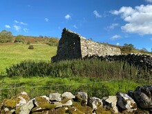 Old Stone Barn Ruins, With Wil...