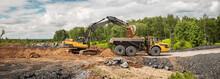 Large Quarry Dump Truck. Big Y...