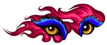 Animal Eye Vector Illustration In White Background