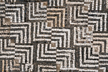 Fragment Of Antique Mosaic Pattern Tile In Old City Of Bar, Montenegro.